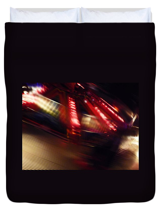 Fairground Ride Duvet Cover featuring the digital art Speed Futures by Charles Stuart