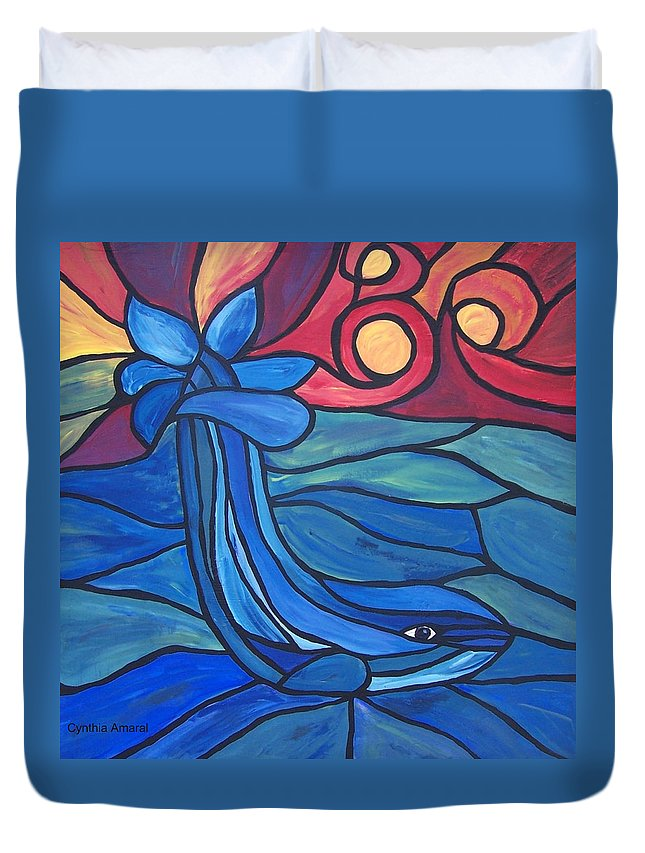 Bold Duvet Cover featuring the painting Splash by Cynthia Amaral