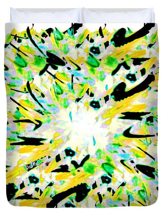 Splat Duvet Cover featuring the digital art Splat 4 by Tim Allen