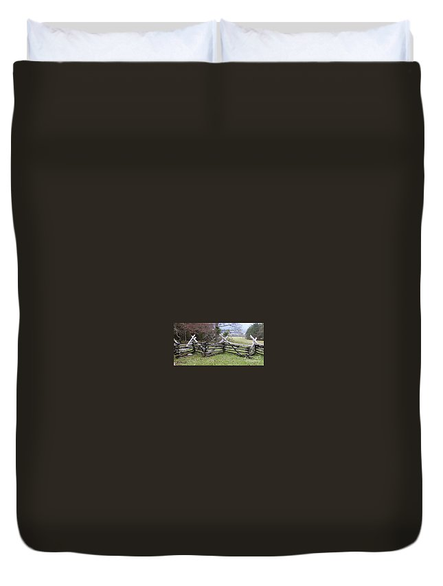 Split Rail Fence Duvet Cover featuring the photograph Split Rail Fence by Tim Mulina