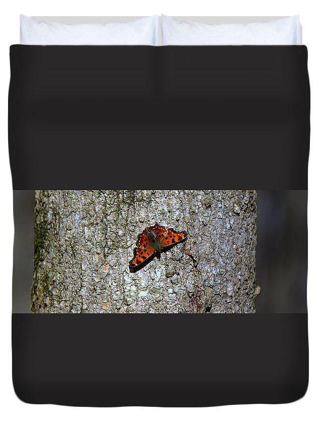 Spot On Duvet Cover featuring the photograph Spot On by Ed Smith