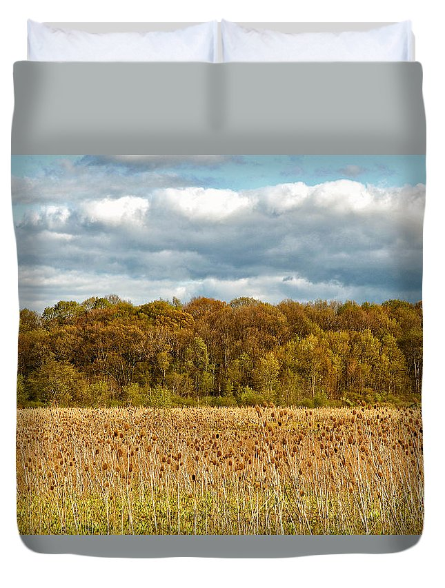 Spring Duvet Cover featuring the photograph Sprautumn by Rachel Cohen