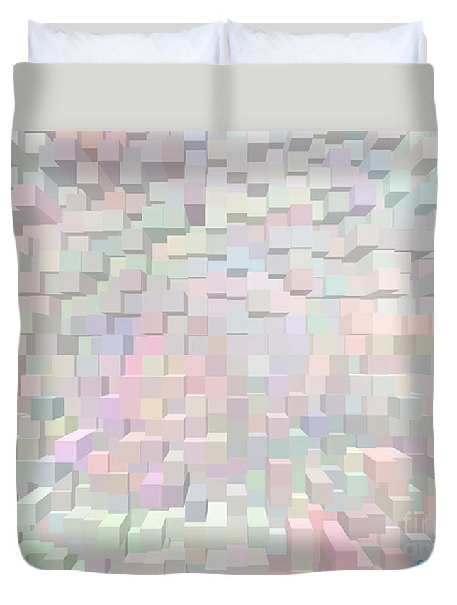 Muted Colors Duvet Cover featuring the photograph Spring Blooms 2 by Afroditi Katsikis