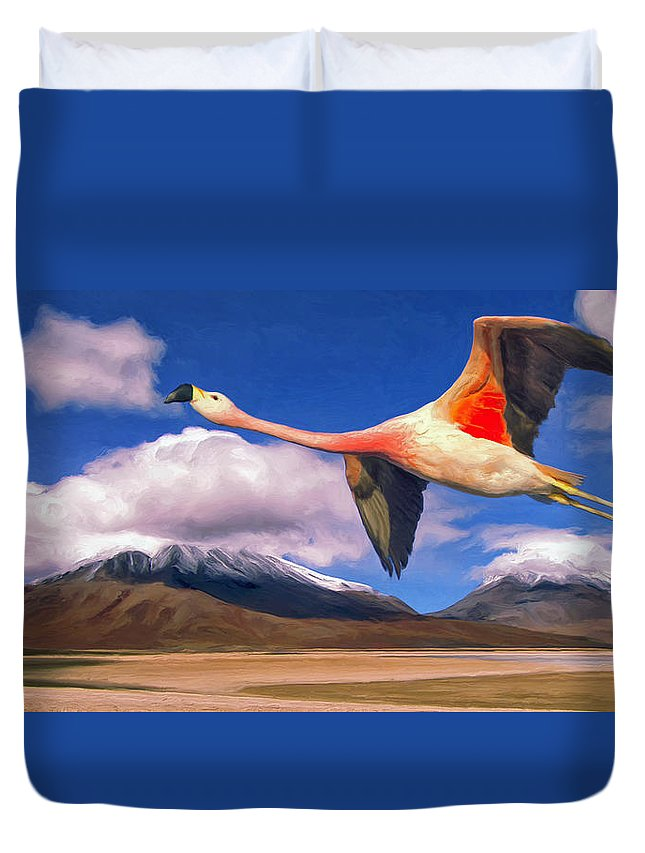 Spring Break Duvet Cover featuring the painting Spring Break by Dominic Piperata