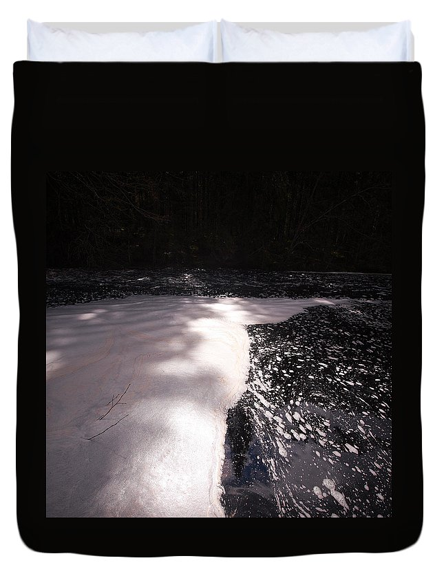 Lehtokukka Duvet Cover featuring the photograph Spring Flood Foam Bath by Jouko Lehto