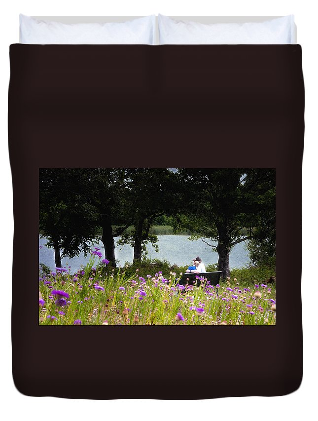 Love Duvet Cover featuring the photograph Spring Love by Tamyra Ayles