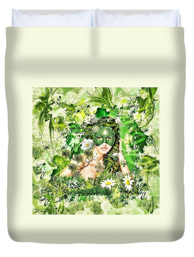 Spring Duvet Cover featuring the digital art Spring by Mo T