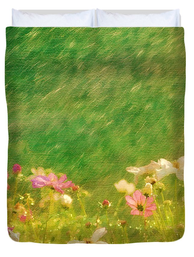 Beautiful Duvet Cover featuring the photograph Spring Rain by Darren Fisher