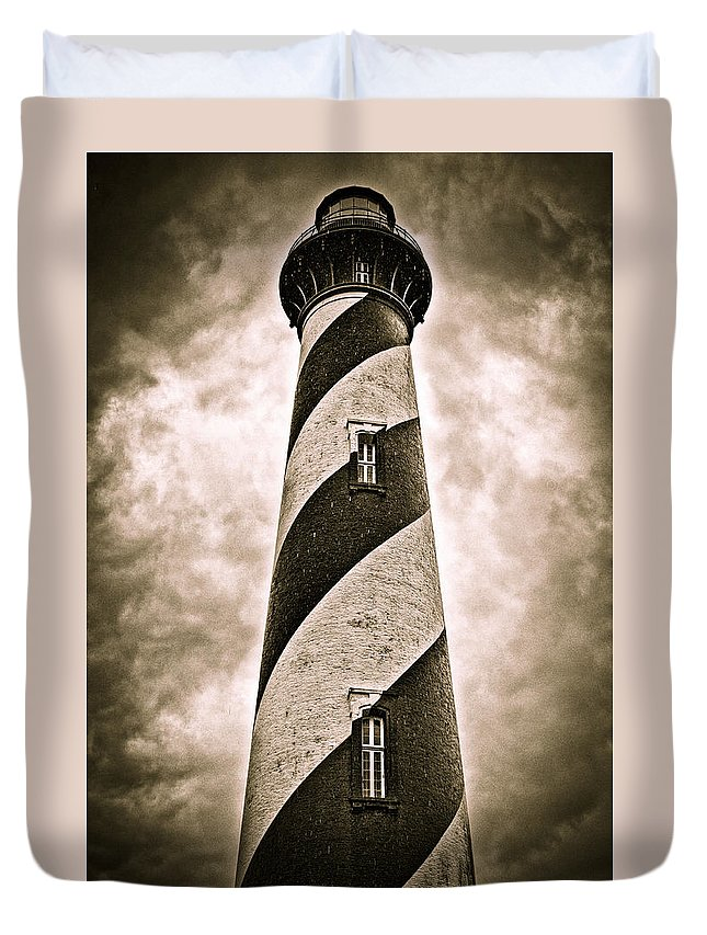 Lighthouse Duvet Cover featuring the photograph St Augustine Lighthouse by Bill Howard