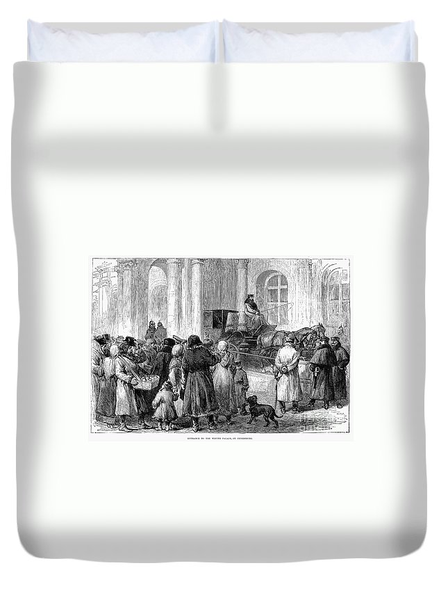 1881 Duvet Cover featuring the photograph St. Petersburg, 1881 by Granger