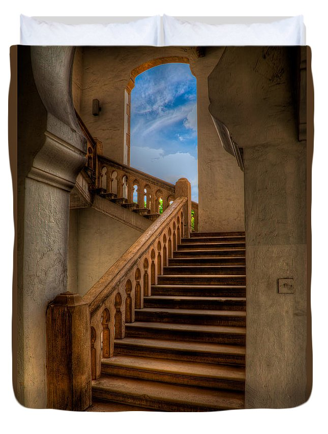 Architecture Duvet Cover featuring the photograph Stairway To Heaven by Adrian Evans