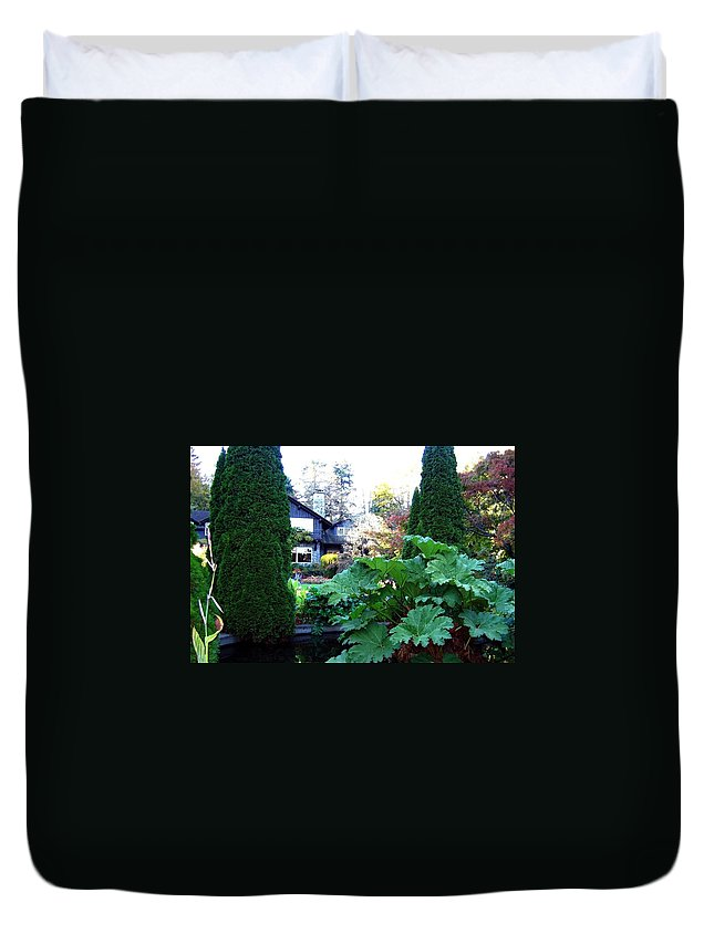 Stanley Park Pavilion Duvet Cover featuring the photograph Stanley Park Pavilion by Will Borden