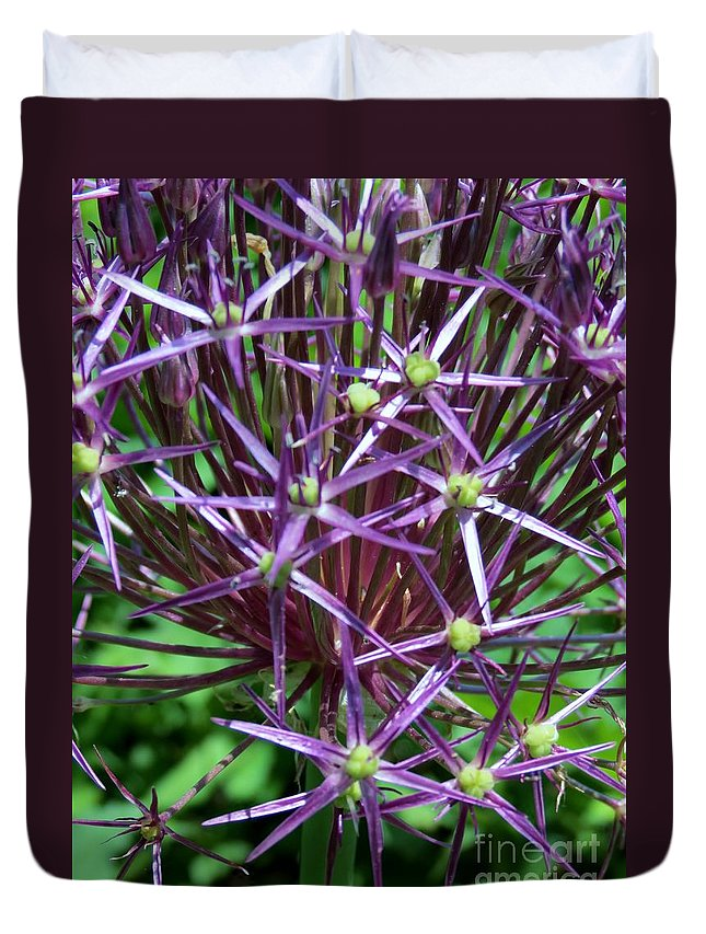Star Duvet Cover featuring the photograph Star Flowers by Art Dingo