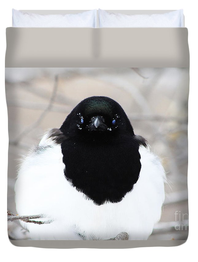 Duvet Cover featuring the photograph Staring Contest by Alyce Taylor