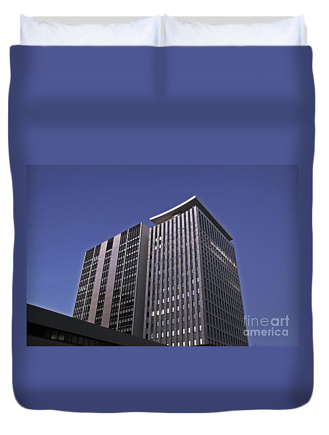City Duvet Cover featuring the photograph Stark City by Stephen Mitchell