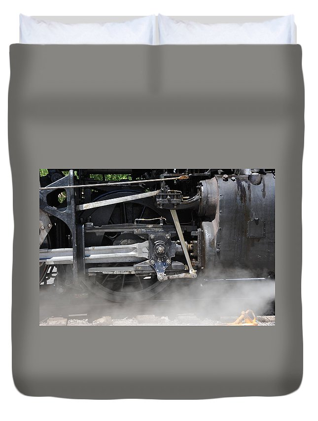 Steam Train Duvet Cover featuring the photograph Steam Power by Ron Weathers