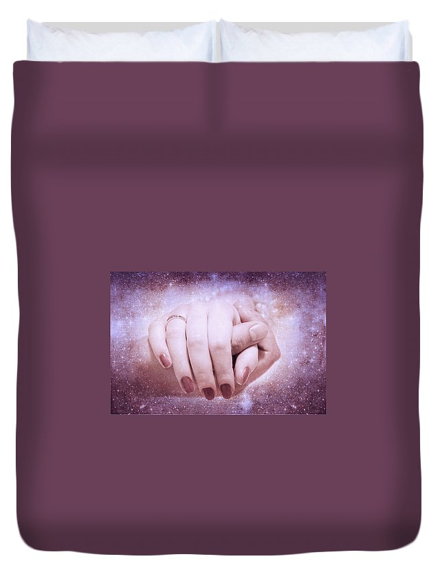 Love Duvet Cover featuring the photograph Stellar Bonds by Jenny Rainbow