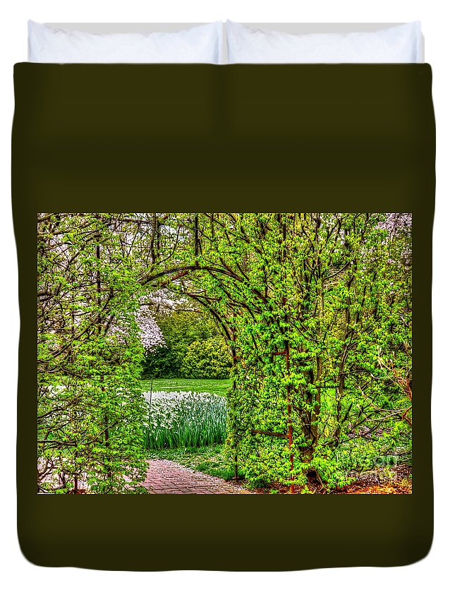 Vines Duvet Cover featuring the photograph Step Right In by Debbi Granruth