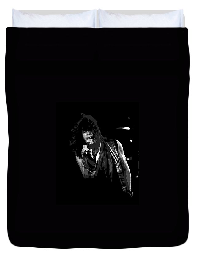 Aerosmith Duvet Cover featuring the photograph Steven In Spokane 5a by Ben Upham