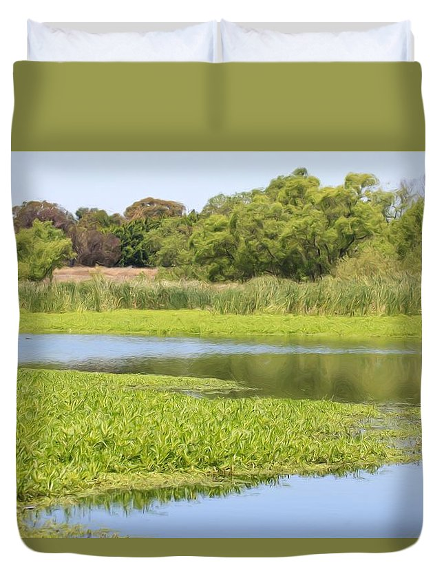 Lake Duvet Cover featuring the photograph Still Waters by Heidi Smith