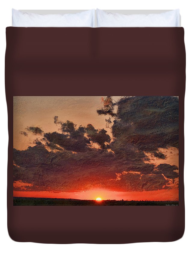 Morning Duvet Cover featuring the digital art Stony Clouds by Debbie Portwood