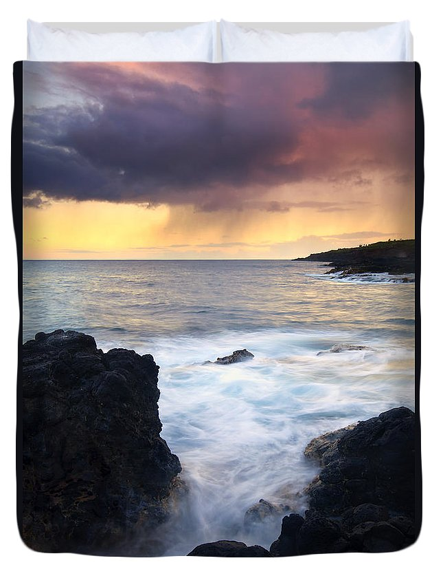 Fissure Duvet Cover featuring the photograph Storm Fissure by Mike Dawson