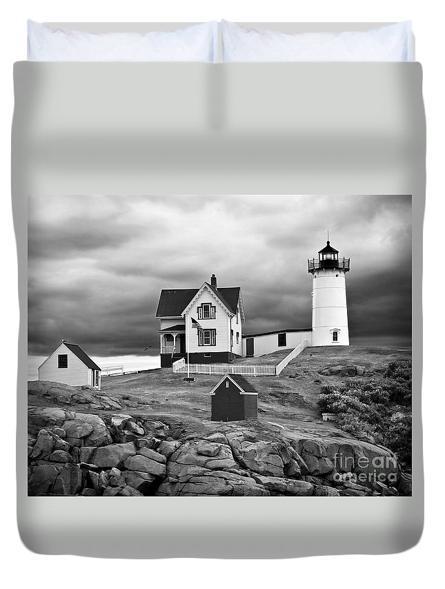 Outdoors Duvet Cover featuring the photograph Storm Warning by Jim Chamberlain