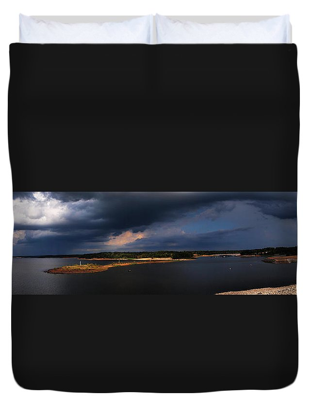 Sardis Lake Duvet Cover featuring the photograph Storms Over Sardis by Joshua House
