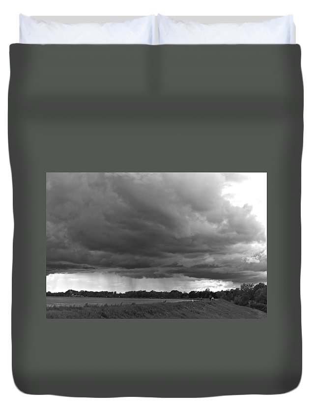 River Rhine Duvet Cover featuring the photograph Stormy Day II by Noze P