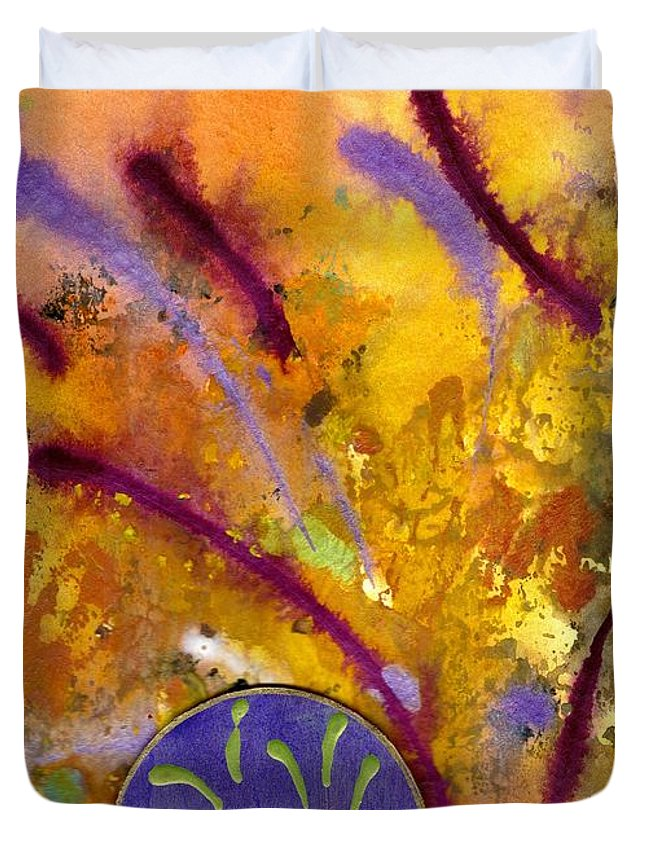 Greeting Cards Duvet Cover featuring the painting Strokes Of Love by Angela L Walker
