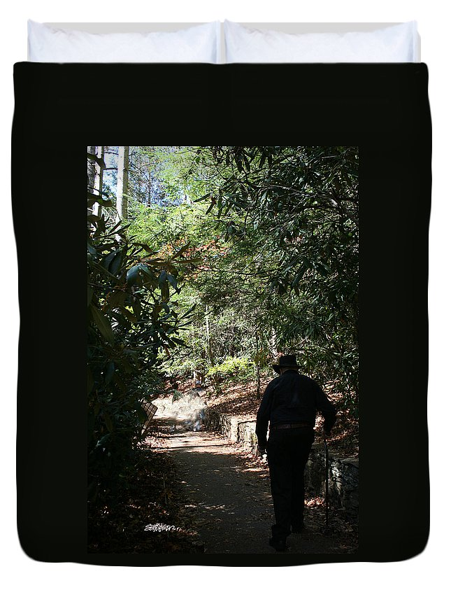 Stroll In The Shadows Duvet Cover featuring the photograph Stroll In The Shadows by Seth Weaver