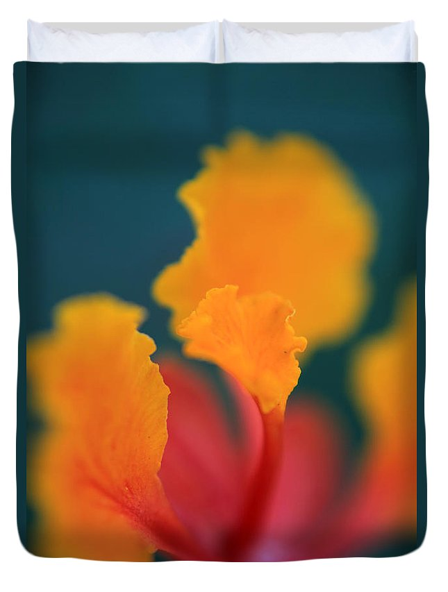 Flowers Duvet Cover featuring the photograph Strong Enough by Laurie Search