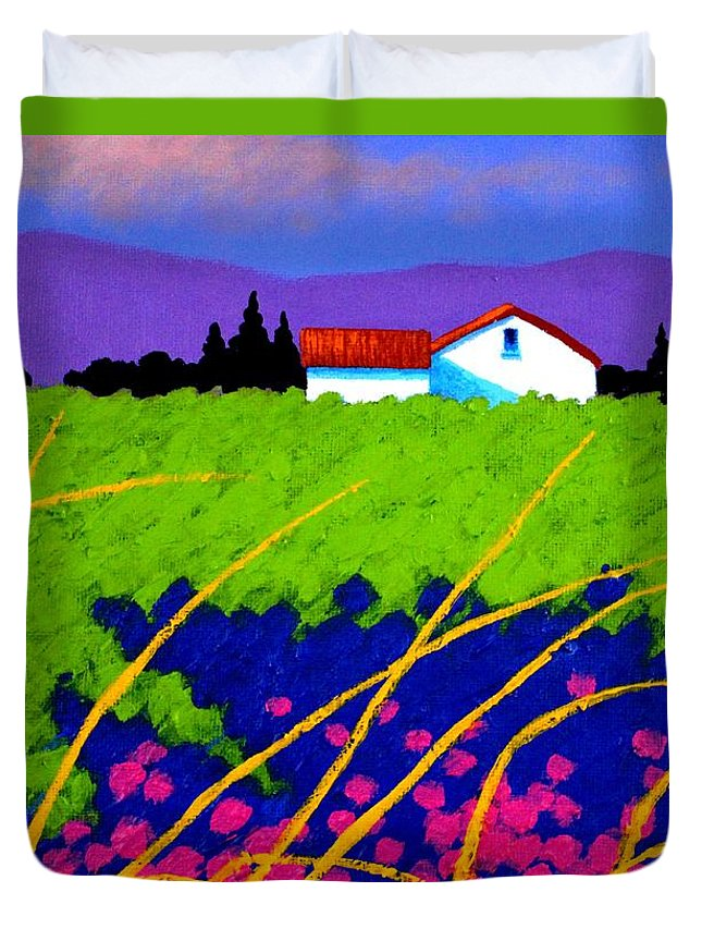 Lavender Duvet Cover featuring the painting Study For Provence Painting by John Nolan