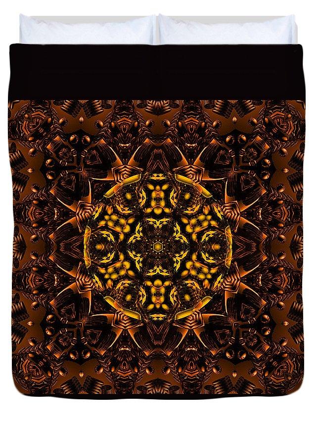 Copper Duvet Cover featuring the digital art Sublime by Robert Orinski