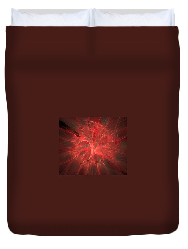 Marsala Duvet Cover featuring the photograph Subtle Aura-fractal Art by Lourry Legarde