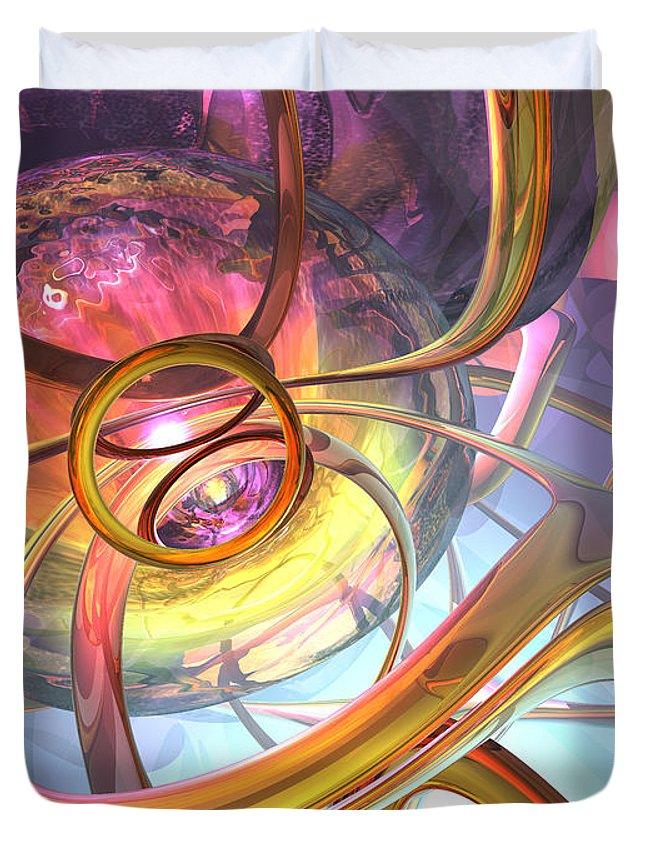 3d Duvet Cover featuring the digital art Subtlety Abstract by Alexander Butler
