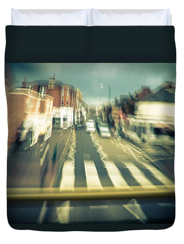 City Duvet Cover featuring the photograph Suburbia by Dorit Fuhg