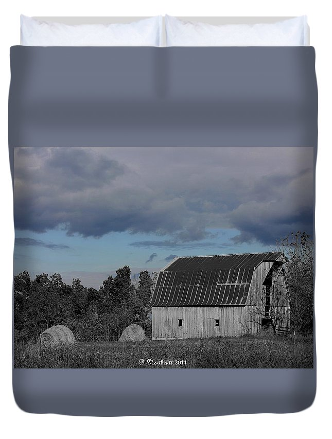 Barn Duvet Cover featuring the photograph Such Is Life by Betty Northcutt
