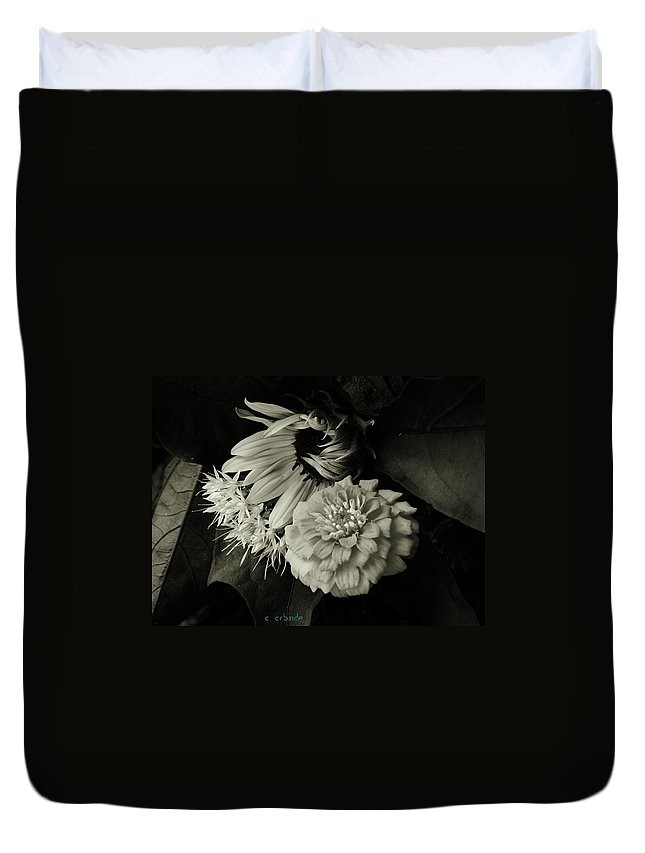 Sunflower Duvet Cover featuring the photograph Summer by Chris Berry