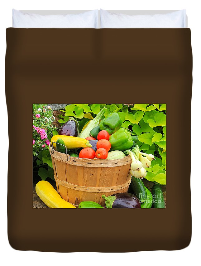Vegetables Duvet Cover featuring the photograph Summer Harvest by Jack Schultz