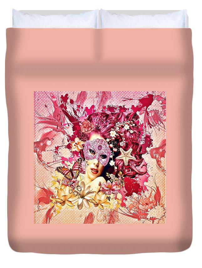 Summer Duvet Cover featuring the digital art Summer by Mo T