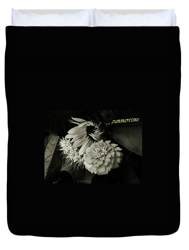 Flowers Duvet Cover featuring the photograph Summertime by Chris Berry