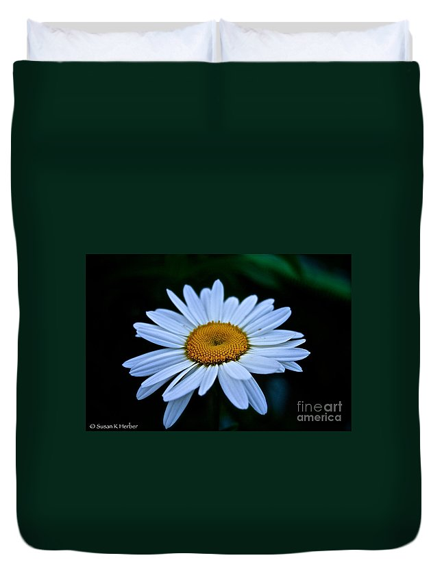 Outdoors Duvet Cover featuring the photograph Sunny Side Up by Susan Herber