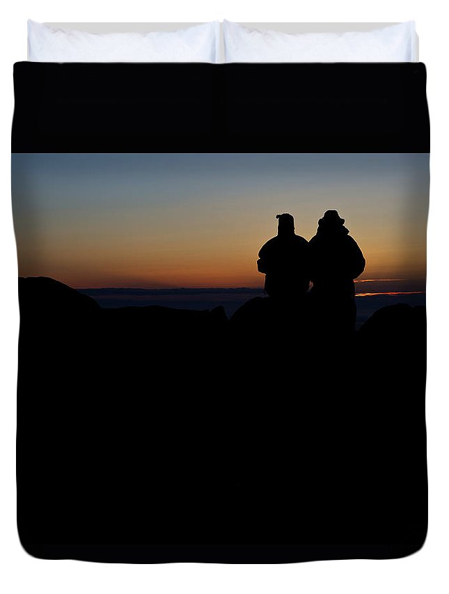 Maine Duvet Cover featuring the photograph Sunrise With Me by Rick Berk
