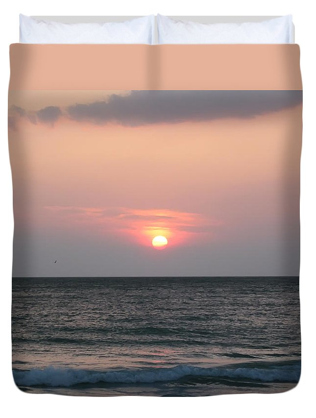 Florida Duvet Cover featuring the photograph Sunset - Florida Style by Bill Cannon