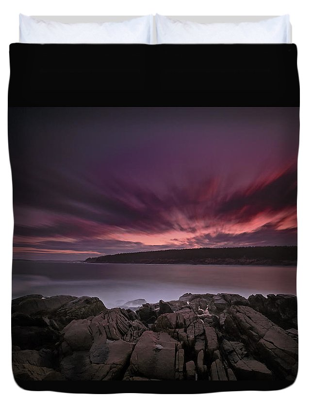 Maine Duvet Cover featuring the photograph Sunset At Otter Point by Rick Berk