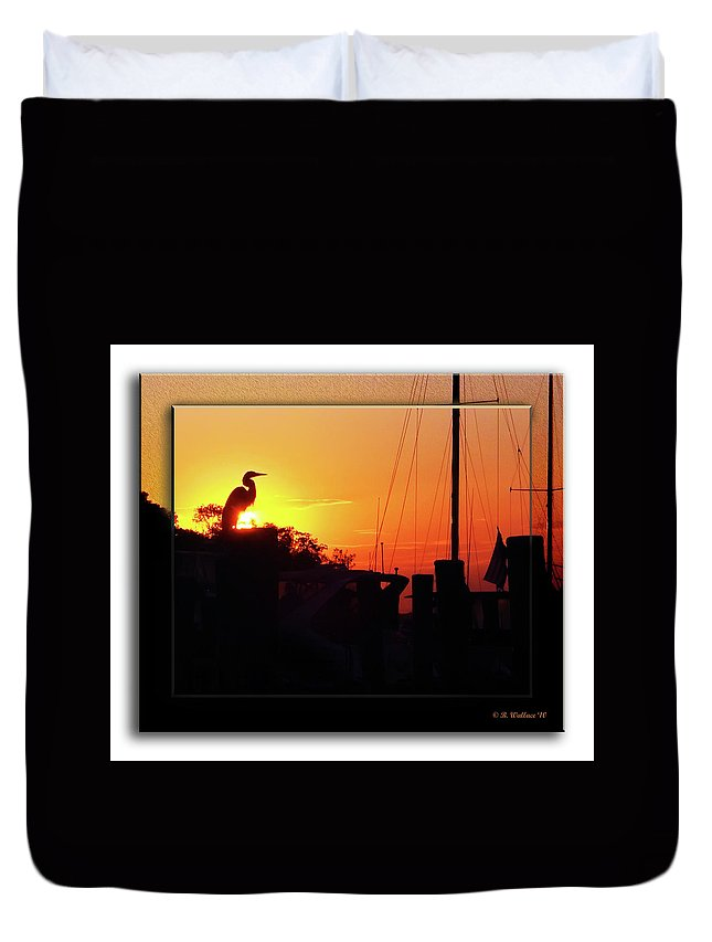 2d Duvet Cover featuring the photograph Sunset At The Granary by Brian Wallace