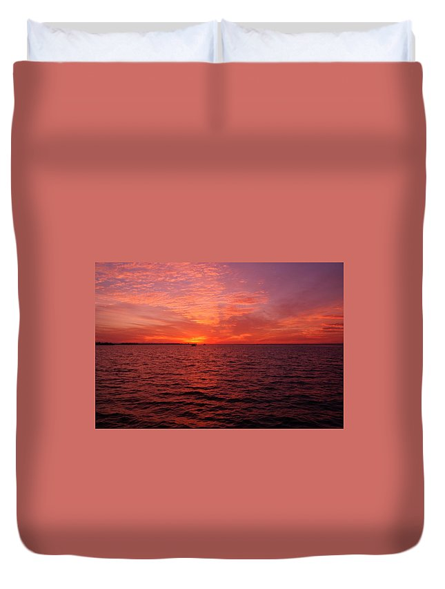 Sunset Duvet Cover featuring the photograph Sunset Iv by Joe Faherty