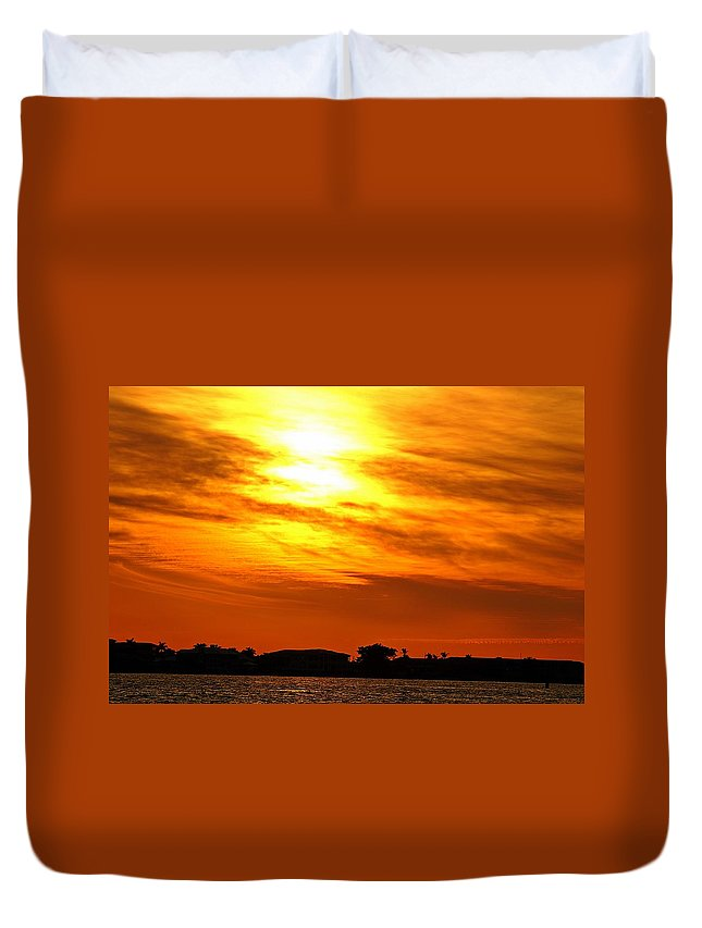 Sunset Duvet Cover featuring the photograph Sunset Ix by Joe Faherty