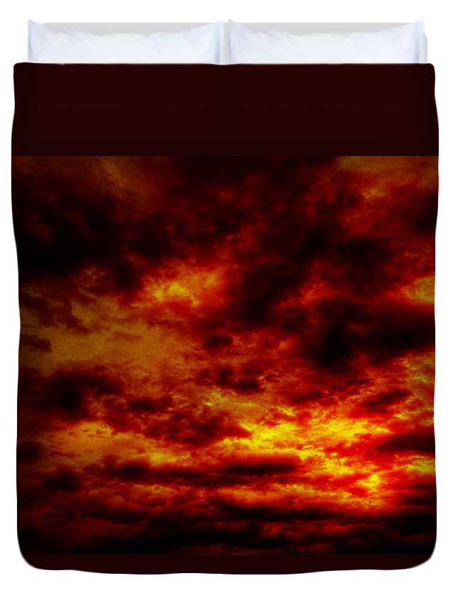 Acrylic Prints Duvet Cover featuring the photograph Sunset by John Herzog